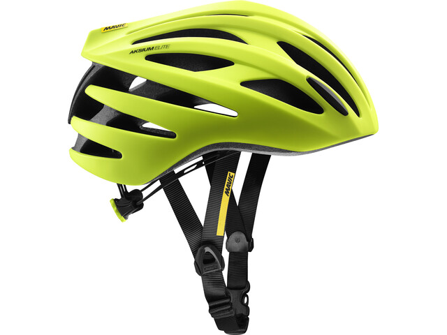 Mavic Aksium Elite Fietshelm Heren, safety yellow/black